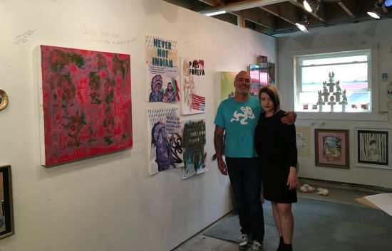 Jeff Herrity and Britt Law in Herrity's new Gallery 25 worshop.