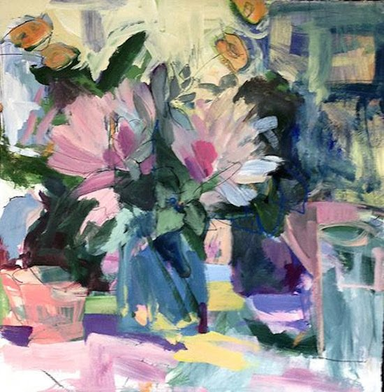 Spring, by Jodi Ferrier, Acrylic on canvas. Courtesy of 39th Street Gallery.