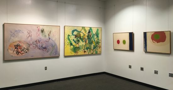 Four works by Andrew Hudson. Photo for East City Art by Eric Hope.