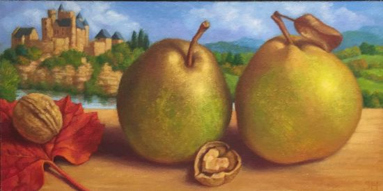 Pears, Beynac Sheila Harrington Photo for East City Art by Eric Hope.