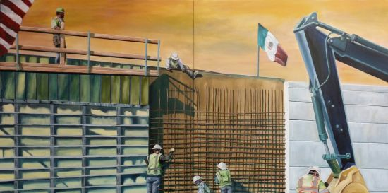 The Wall Augustine Chavez Oil on panel; 48 x 84 in. Photo courtesy of Touchstone Gallery.