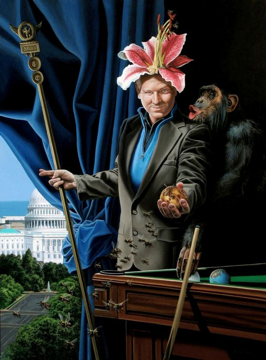 The Thinker Kevin Grass Acrylic on panel; 33.25 x 25 in. Photo courtesy of Touchstone Gallery.