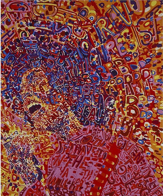 Wadsworth Jarrell, Revolutionary, edition 275/300,1972. Serigraph on wove paper, 26 x 33 in. Courtesy of the artist.