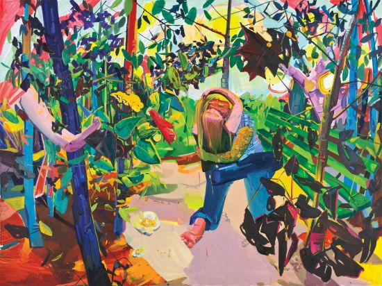 Dana Schutz, Lovers, 2003 Oil on canvas, 84 x 120 in. Photo courtesy of the National Museum of Women in the Arts.