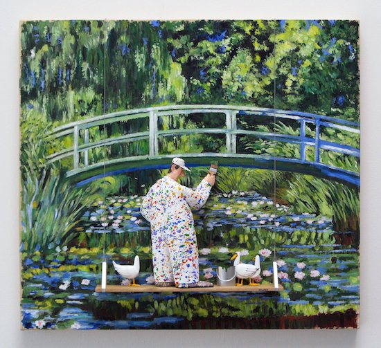 Water Lillies and Japanese Bridge by Stephen Hansen. Courtesy of Zenith Gallery.