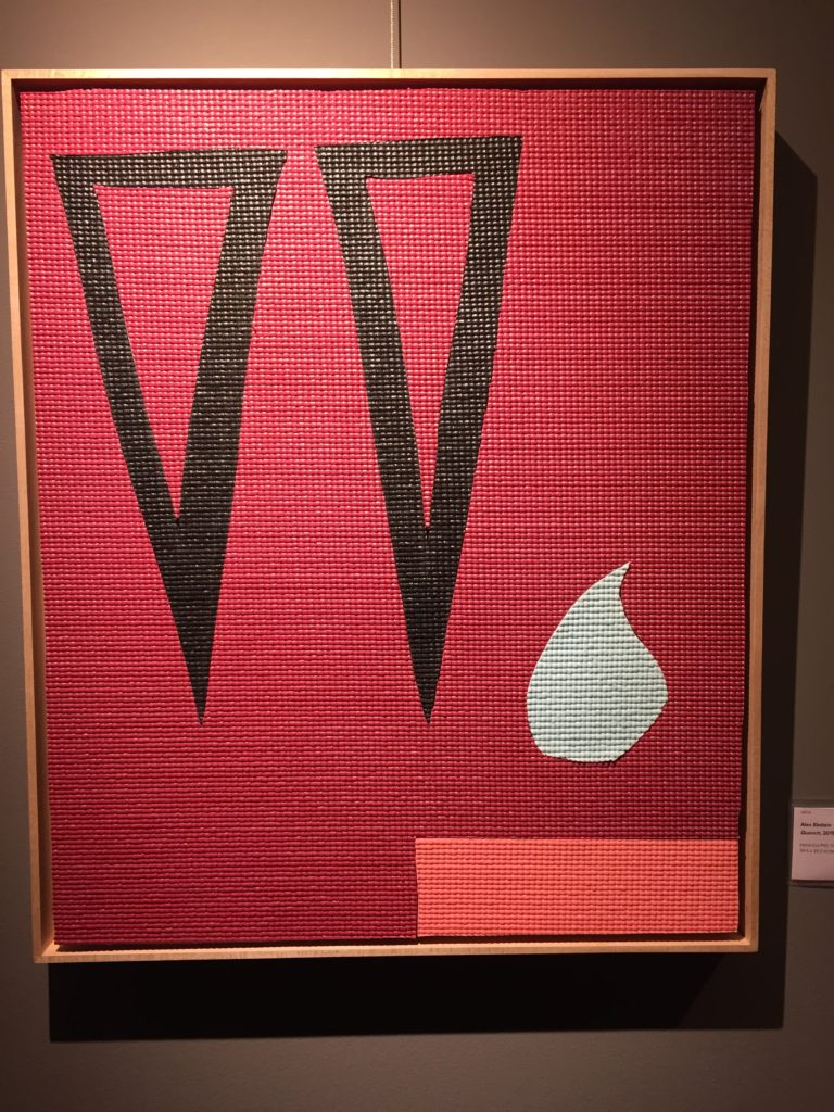 """Alex Ebstein, Quench, 2015, hand-cut PVC yoga mats on wood panel, 24.5x20.5"""", Photo by Jay Hendrick"""