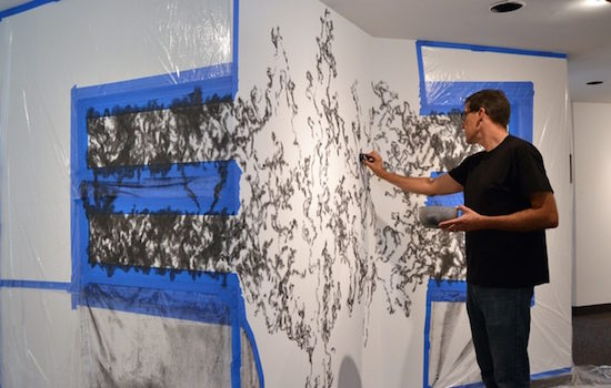 Terminal Flux: A Site-Specific Drawing by John M. Adams