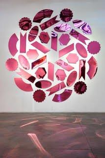 Amelia Toelke, Dragonfruit, 2014, mirrored acrylic, 8.75 x 8.75 feet. Courtesy of VisArts.