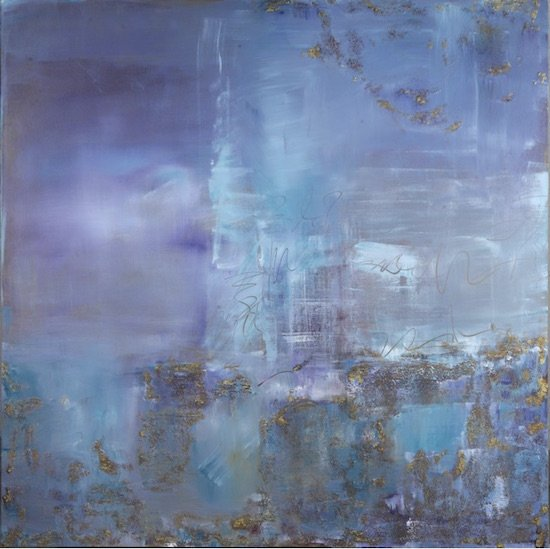 Donna K. McGee - Hidden Treasure - 40 x 40 - acrylic and pumice on canvas. Courtesy of Foundry Gallery.