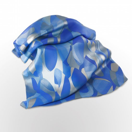 Folded in Blue by Fran Abrams. Courtesy of Strathmore Visual Arts.