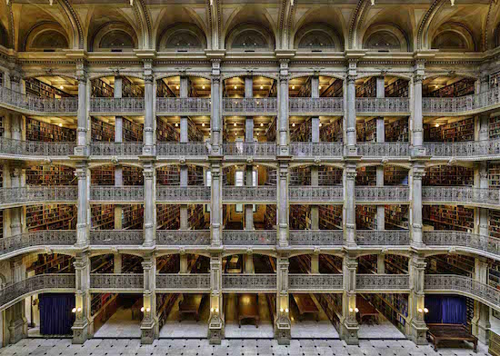 Joshua Dunn, Peabody Library, photography, archival pigment print. Courtesy of BlackRock Center for the Arts.