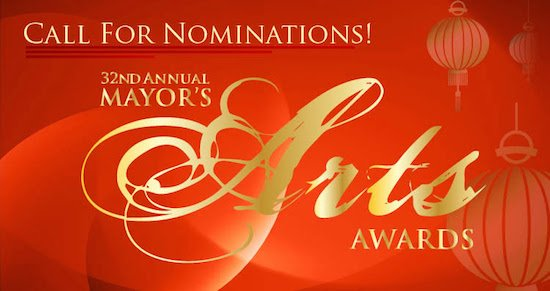 32nd Annual Mayor's Arts Awards Call for Nominations