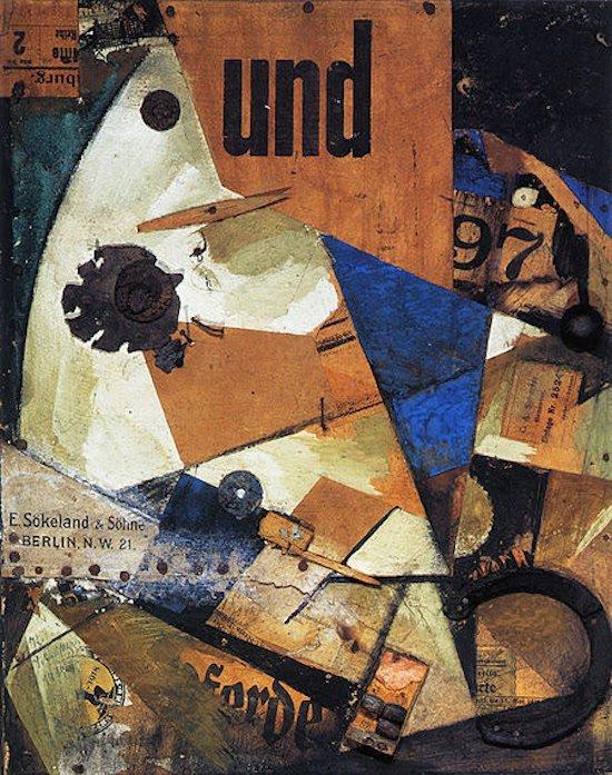 Kurt Schwitters, Das Undbild,1919. Courtesy of Washington Studio School.