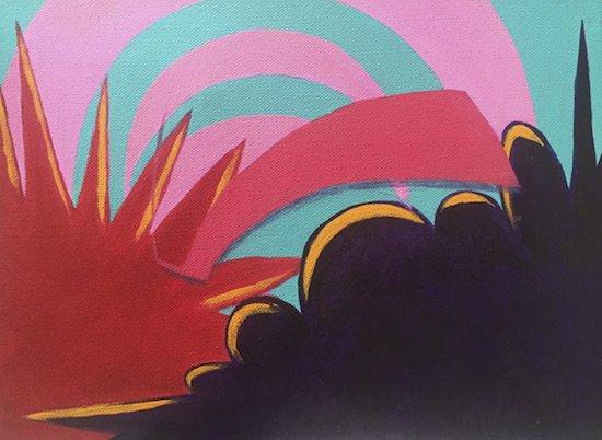 Explosion #3, Gyasi O, Acrylic on canvas. Courtesy of Art Enables.