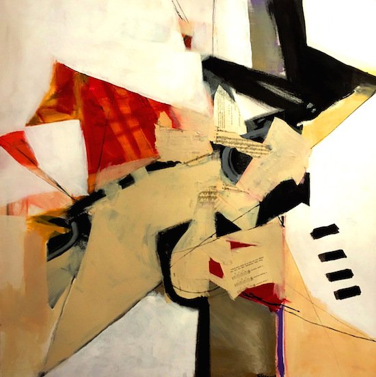 Patsy Fleming, Jazz, 36 x 36, acrylic on canvas. Courtesy of Foundry Gallery.