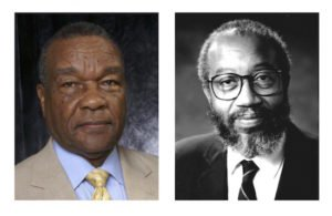 Left: Portrait of David Driskell; Right: Portrait of Floyd Coleman. Courtesy of David C. Driskell Center.