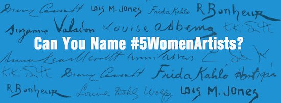#5WomenArtists Campaign: 520 Organizations from 7 Continents & 30 Countries Participated