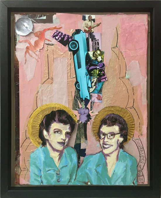 "Jo Ann Block, Del & Phil Oil and Mixed Media, 14 x 18"". Courtesy of Touchstone Gallery."