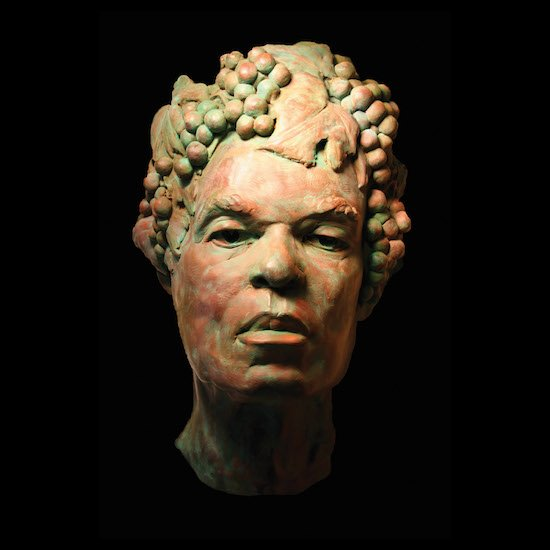 "Bacchus in a Dry County, terra cotta high relief, 9"" x 16"" 6.5"". Courtesy of The Art League."