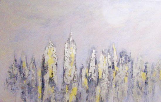 Susan Calloway Fine Arts Presents Nurieh Mozaffari La lune blanche
