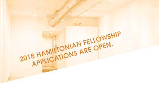 Call for Entries: 2018 Hamiltonian Fellowship