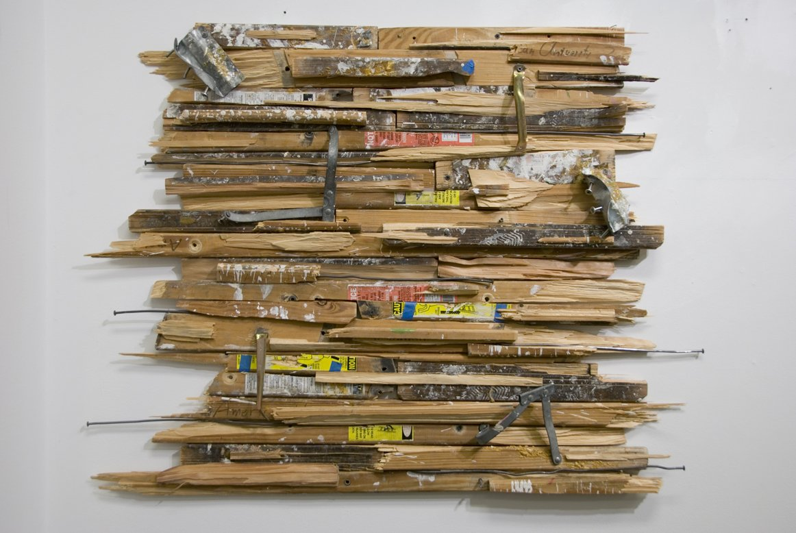 Sam Scharf Now Its Only A Memory 2011 Found object (wooden ladder). Copyright Samuel Scharf. Courtesy of the artist.