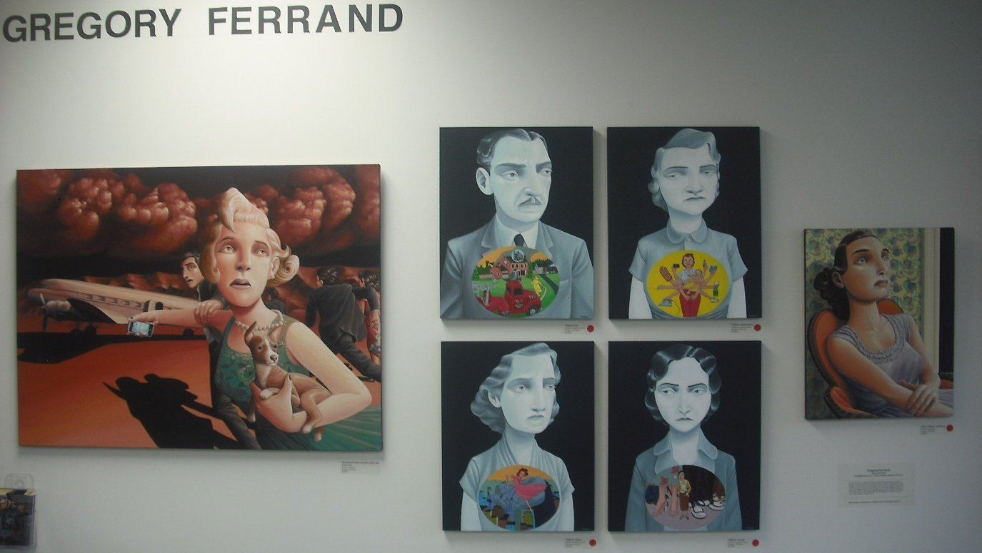 Works by DC-artist Gregory Ferrand mix wry storytelling with Hollywood glamour.