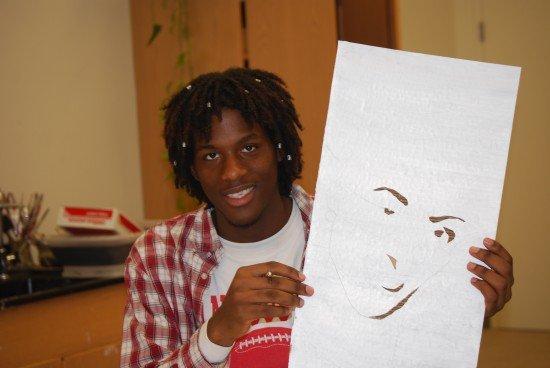 Proud ANA artist shows cardboard creation