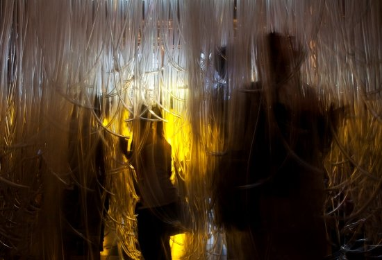 """Virtual Sunset"" installation view at the Victoria and Albert Museum, London.  Photo courtesy of Studio Tobias Klein."