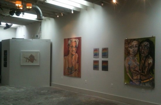 """""""Intimate Network"""" by Lisa Marie Thalhammer, installation view.  Photo by Eric Hope for East City Art."""