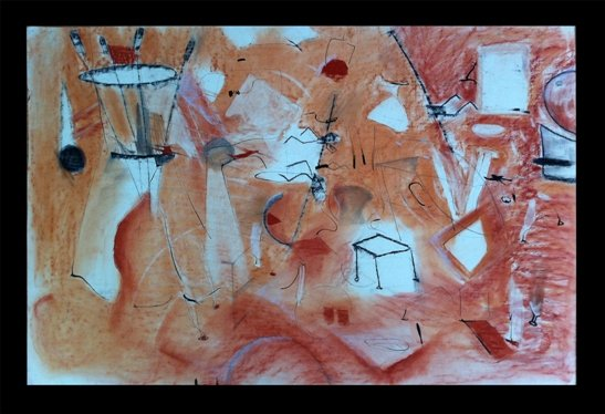 An untitled early abstract by the artist when she was fully engaged with color.  Photo courtesy Lisa K. Rosenstein.