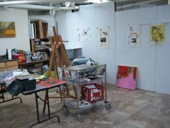 [Michele Montalbano's Studio.] Photo by Zofie Lang for East City Art.