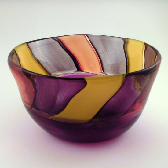 Violet Circus Bowl by Leo Lex. Photo courtesy of Gateway Arts District.
