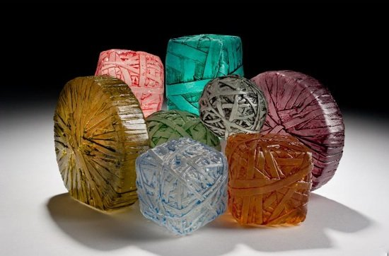 Rebound series, recyled glass by Erwin Timmers. Photo courtesy of Brentwood Arts Exchange.