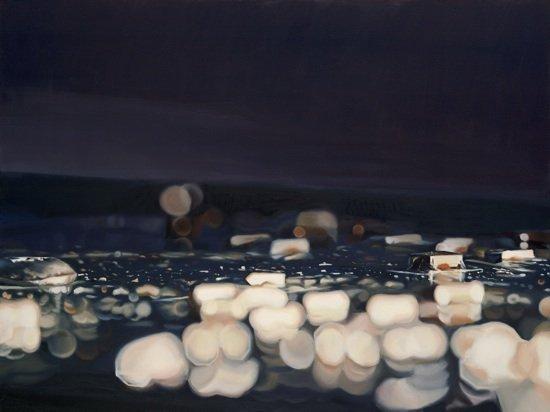 Modern World 14 by Glen Kessler, oil on canvas. Photo courtesy of Hill Center Galleries.