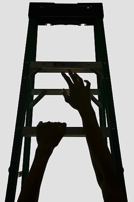 Wilmer Wilson IV: Faustian Ladder (#1), 2013, pigment print, 30 x 20 inches. Photo courtesy of CONNERSMITH.