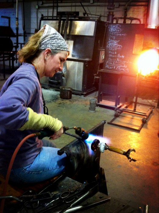 Glass blowing at DC Glassworks. Photo courtesy DC Glassworks.