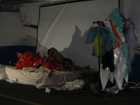 (e)merge art fair, Opening night, October 3, 2013. Lower level/garage exhibition area.