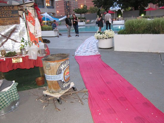 "(e)merge art fair, October 3, 2013, after Monica Jahan Bose performance/art action, ""Unwrapped."""