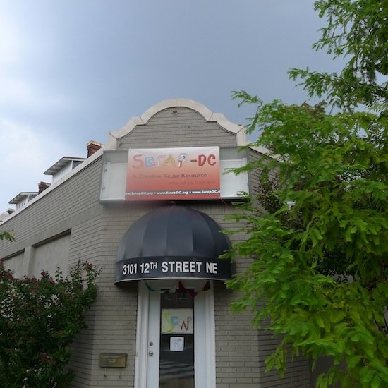 SCRAP DC's new Brookland Location. Photo by Phil Hutinet for East City Art.