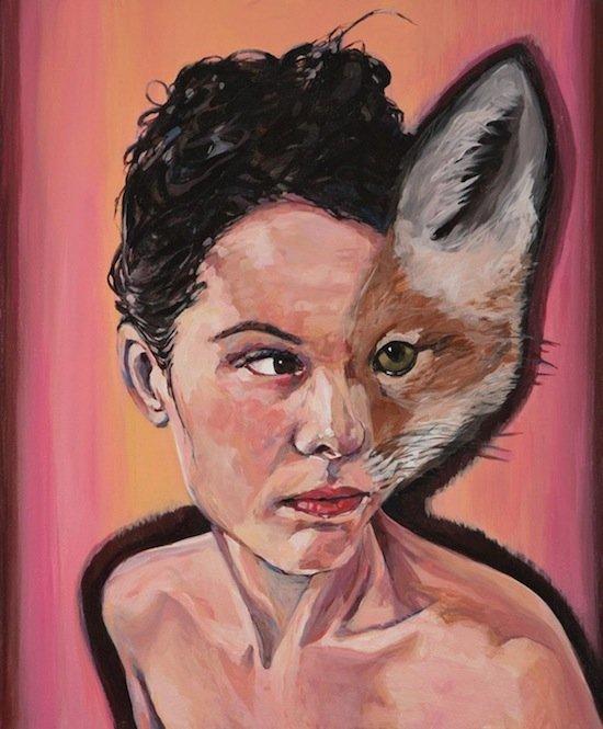 "Sharon Shapiro,Vixen, 2011, acrylic on canvas, 24""x 20"""