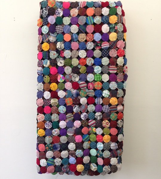 Untitled (Yo-yo) Quilt, Frederick Nunley Photo by Eric Hope for East City Art.