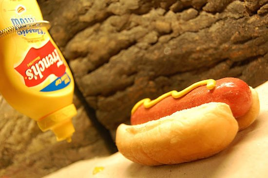 Alive Hot Dog by Ludovic Bertron. Photo courtesy of Wikimedia.