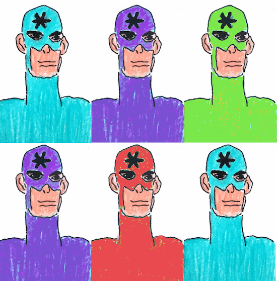 Asterisk Man</i< by Art Enables artist Paul Lewis. Photo courtesy of Art Enables.
