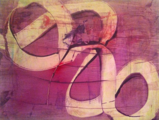 """Tango by Elizabeth Williams. Acrylic on synthetic paper 19"""" x 25"""", 2014. Photo courtesy of the artist."""
