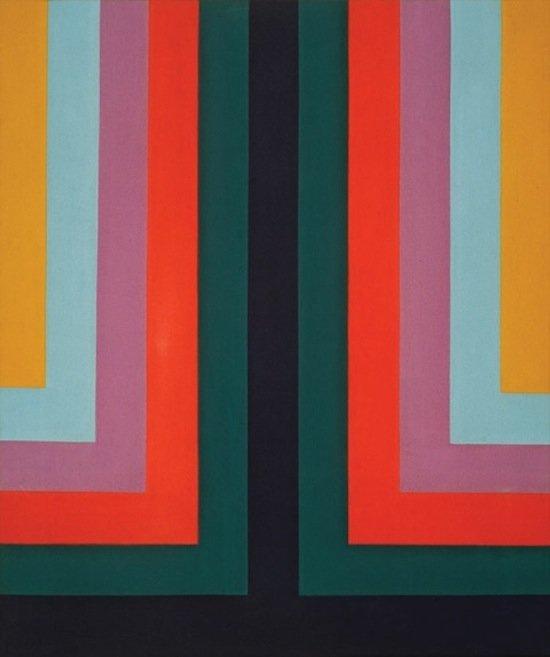 "Howard Mehring, Two and Three, 1966, acrylic on canvas, 40 1/2"" x 34"". Photo courtesy of HEMPHILL."