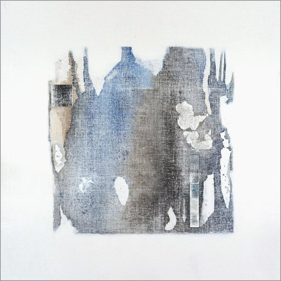Settlement #8, 40 x 40 x 2,  mixed media on panel. Photo courtesy of Gallery plan b.
