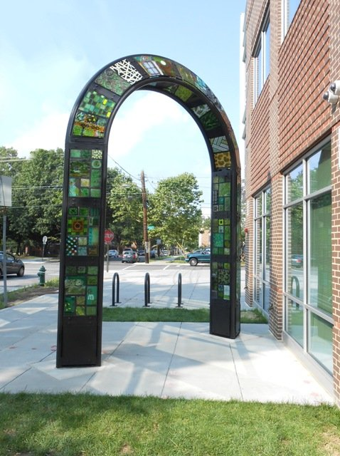 Opposite view of Washington, DC's Green Community Arch.