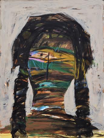 Untitled Fahad AlNiymah Mixed Media on Canvas 200 x 150 cm Image Courtesy of Naila Art Gallery.