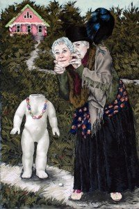 """Witches Have Red Eyes and Cannot See Far, Pastel,24"""" x 36"""" by Ellen Cornett."""